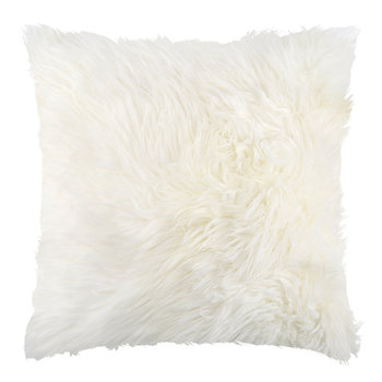 Sheepskin Cushion - 45x45cm - Ivory