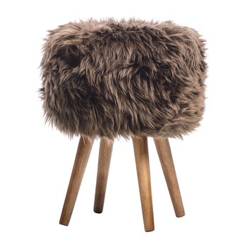 Sheepskin Stool - Chocolate