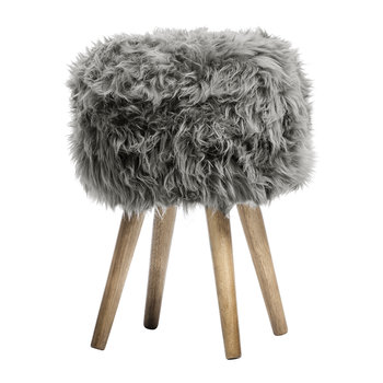 Sheepskin Stool - Grey