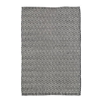 Crystal Indoor/Outdoor Rug - Black/Ivory