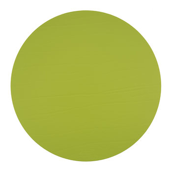 Round Leather Placemat - Lime