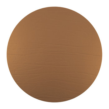 Round Leather Placemat - Bronze
