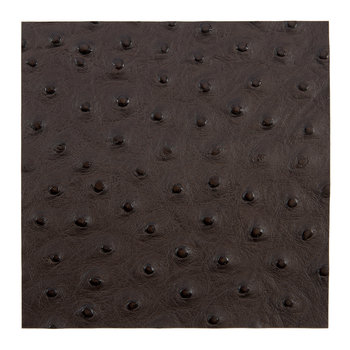 Emu Effect Recycled Leather Placemat - Dark Chocolate