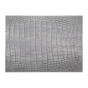 Gator Recycled Leather Placemat - Cloud