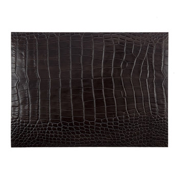 Gator Recycled Leather Placemat - Dark Chocolate