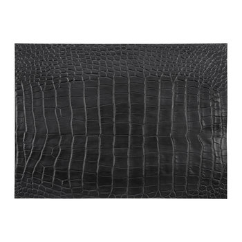 Gator Recycled Leather Placemat - Coal