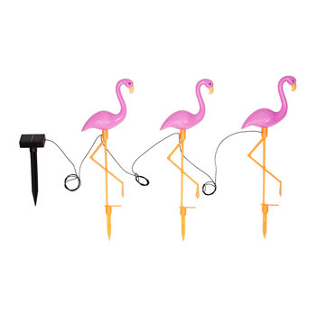Flamingo Garden Lights - Set of 3