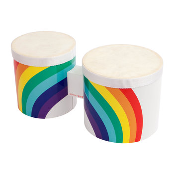 Children's Rainbow Bongo Drums