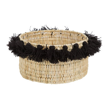 Fluorspar Bucket with Tassels - Black