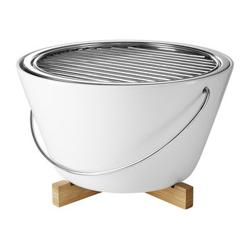 Table Grill/Barbecue - White Porcelain