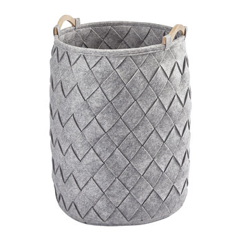 Amy Laundry Basket - Silver Grey