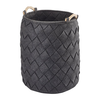 Amy Laundry Basket - Dark Grey