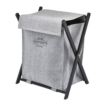 Lyra Laundry Basket - Silver Grey