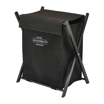 Lyra Laundry Basket - Black