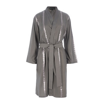 Bubble Embroidered Bathrobe - Grey