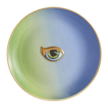 Lito Eye Canape Plate - Green/Blue