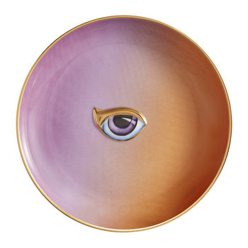Lito Eye Canape Plate - Purple/Orange