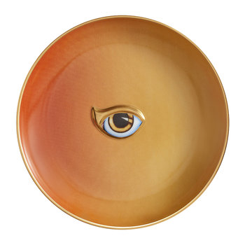 Lito Eye Canape Plate - Orange/Yellow