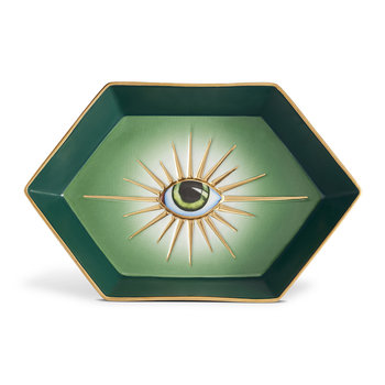 Lito Eye Hexagon Tray - Green