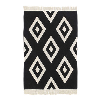 Diamonds Washable Rug - Black & White - 140x200cm