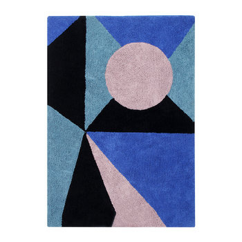 Geometric Frame Washable Rug - 140x200cm