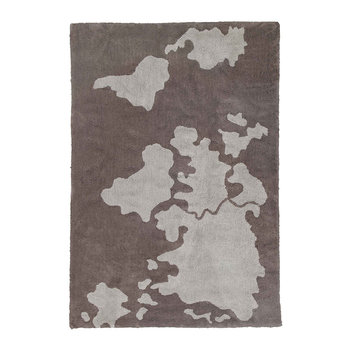 World Map Washable Rug - 140x200cm