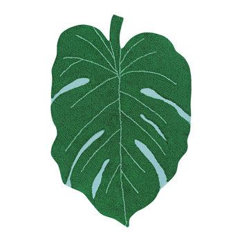 Monstera Leaf Washable Rug - Green - 120x180cm