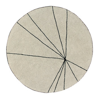 Trace Round Washable Rug - 160cm - Beige