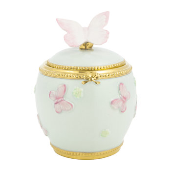 Butterfly Porcelain Sugar Bowl - Aquamarine/Gold