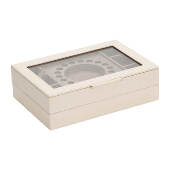 Sophia Stackable Leather Jewellery Trays - Ivory