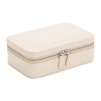 Sophia Zip Jewellery Case - Leather - Ivory