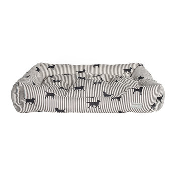 Labrador Striped Dog Bed - Large