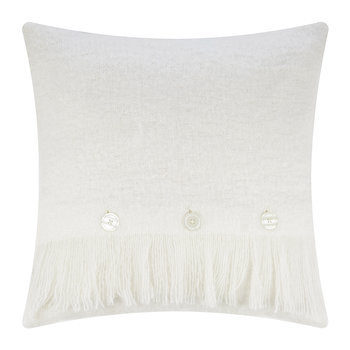 Mohair Feel Pillow - 45x45cm - Ivory