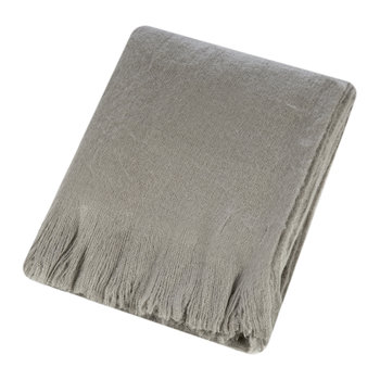 Mohair Feel Throw - Mushroom