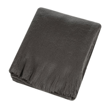 Mohair Feel Throw - Charcoal