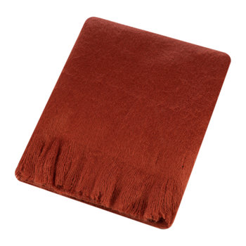 Mohair Feel Throw - Cinnamon