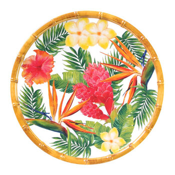 Exotic Flowers Side Plates - Set of 2