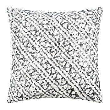 Tiny Mirror Cushion Cover - White - 50x50cm