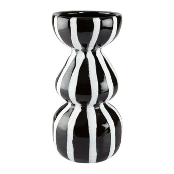 Lines Ceramic Vase - Black/White - 29cm