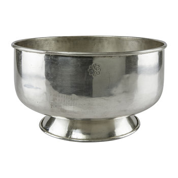 Carved Base Bowl - Silver Plated