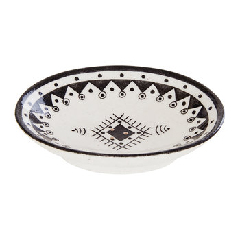 Pavillion Hand Painted Soap Dish - Jaipur Porcelain - Black/White