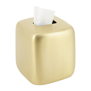 Brushed Brass Tissue Box