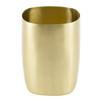 Brushed Brass Bathroom Bin