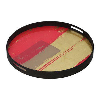 Raspberry Abstract Tray - Round - Small