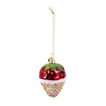Chocolate Dipped Strawberry Tree Decoration - White