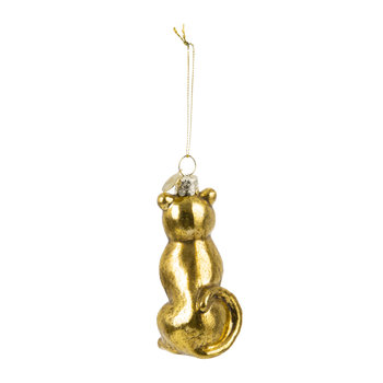 Old Panther Tree Decoration - Gold - Small
