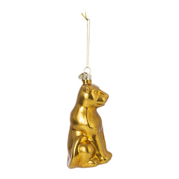 Old Panther Tree Decoration - Gold