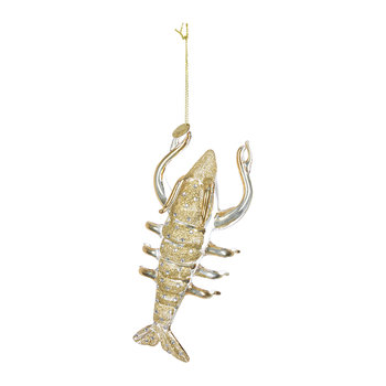 Diamond Lobster Tree Decoration - Gold