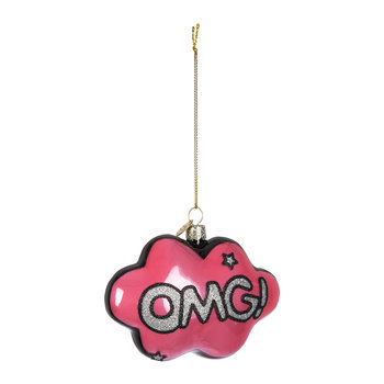 'OMG' Cloud Tree Decoration - Pink