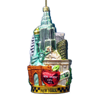 New York City Glass Tree Decoration